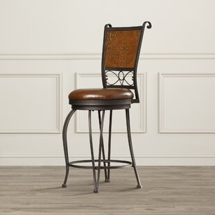 Haynie 24 Swivel Bar Stool Astoria Grand