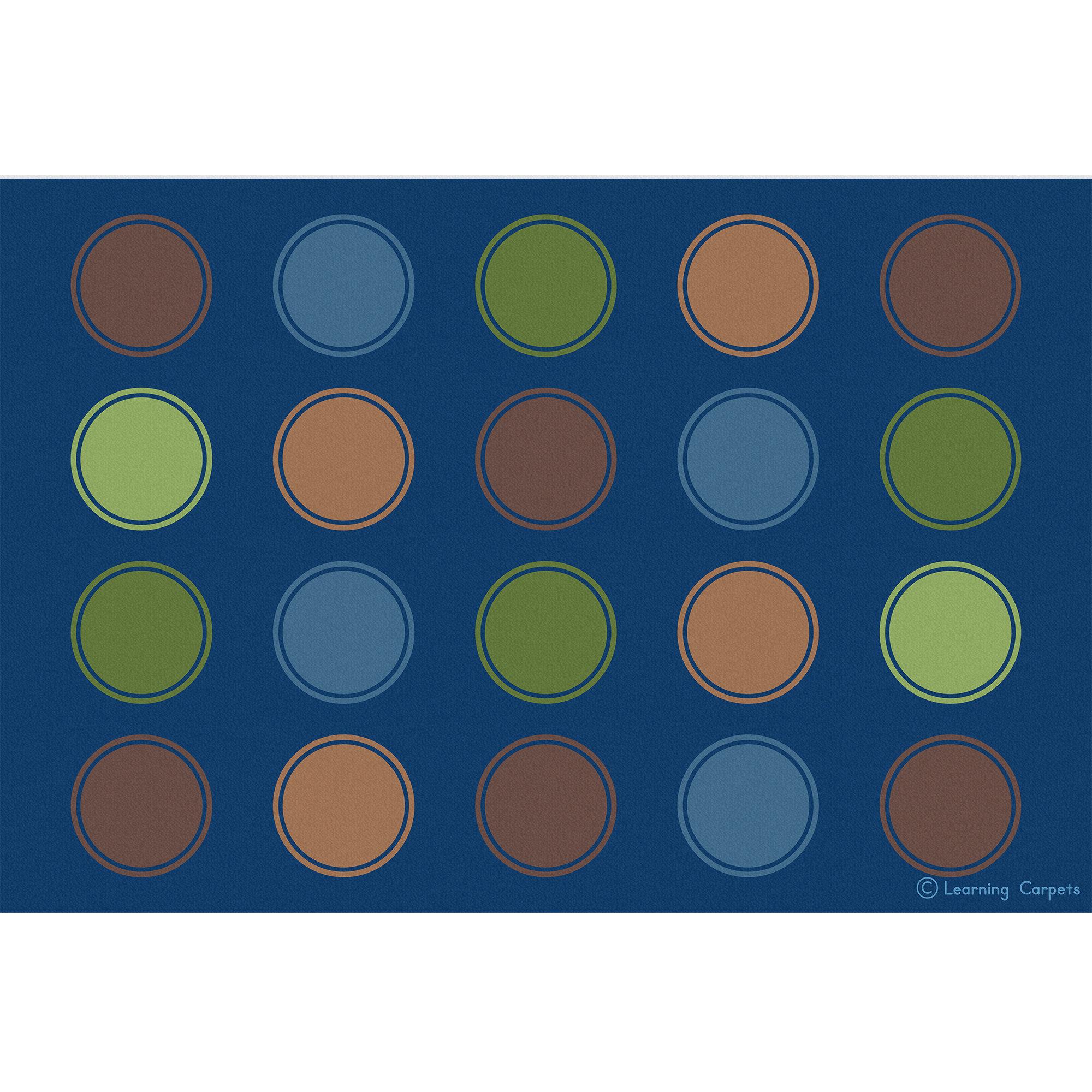 Learning Carpets Polka Dots Flatweave Blue Green Orange Area Rug Wayfair