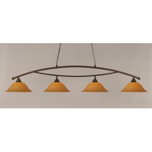 Blankenship 4-Light Billiard Light by Fleur De Lis Living