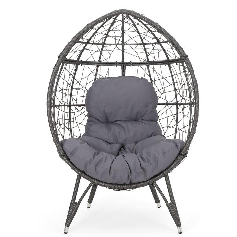 Bloomsbury Market Mabel Wicker Teardrop Swing Chair ...