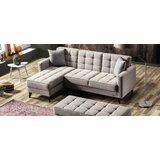 Catarina 85'' Reversible Sleeper Sofa & Chaise with Ottoman by George Oliver