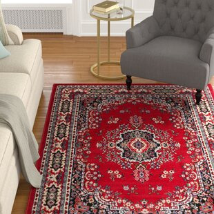 Find Lilly Claret Red Area Rug By Astoria Grand