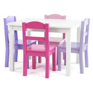 Kaius Kids 5 Piece Writing Table and Chair Set by Zoomie Kids