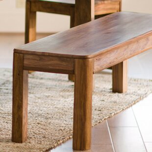 Tipler Sheesham Wood Dining Bench by Union Rustic
