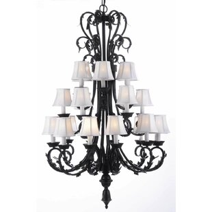 Astoria Grand Locking 24-Light Shaded Chandelier