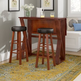 Brayan 3 Piece Pub Table Set Latitude Run