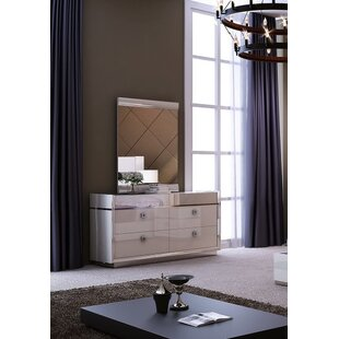 Whicker 4 Drawer Dresser with Mirror