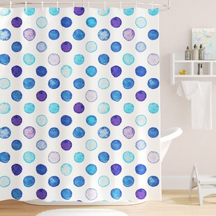 Bradford Vintage Polka Dots Single Shower Curtain