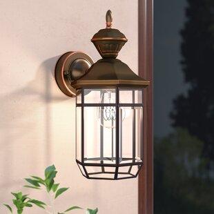 Deals Brookport 1-Light Outdoor Wall Lantern By Alcott Hill