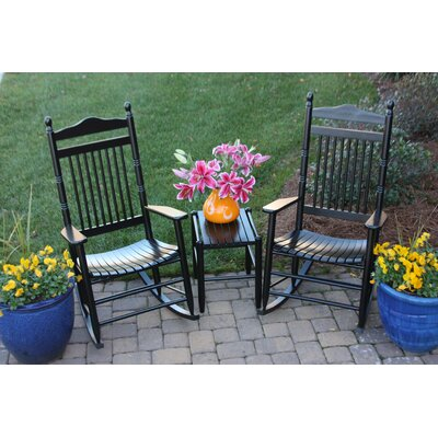 3 Piece Conversation Set Color: Walnut by Dixie Seating