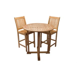Lambright Teak Bar Table by Millwood Pines Coupon