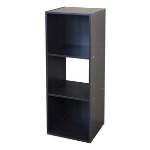 Modern Wood Stackable 3 Cube Bookcase
