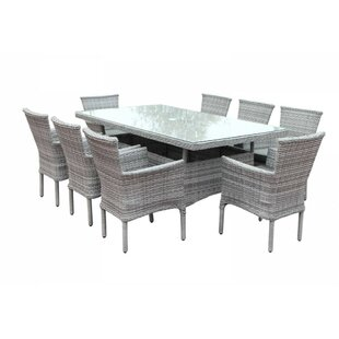 Copenhaver 8 Seater Dining Set With Cushions By Bay Isle Home