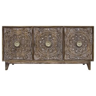 Bungalow Rose Rausch Hand Carved 3 Door Accent Chest