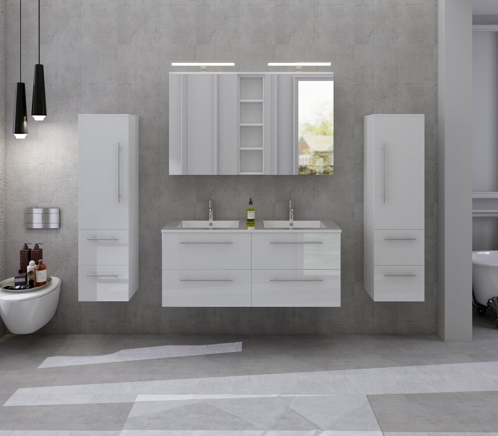 Barina 10cm x 10cm Wall Mounted Bathroom Set
