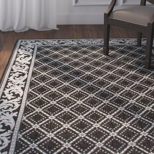 Comparison Avella Trellis Black Indoor/Outdoor Area Rug By Darby Home Co