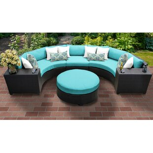 Medley 6 Piece Sectional Seating Group With Cushions by Rosecliff Heights Best