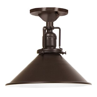 Shumway Modern 1-Light Metal Semi Flush Mount by Breakwater Bay