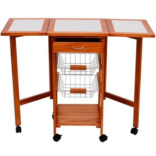 Kitchen Cart With Wood Top by HomCom Design