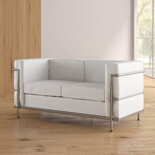 Small Scale Leather Sofa | Wayfair