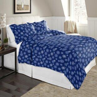 Snow Flakes 100% Cotton Flannel Sheet Set
