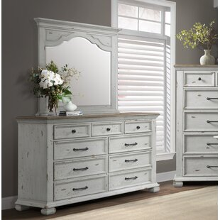 Schutz 7 Drawer Double Dresser with Mirror