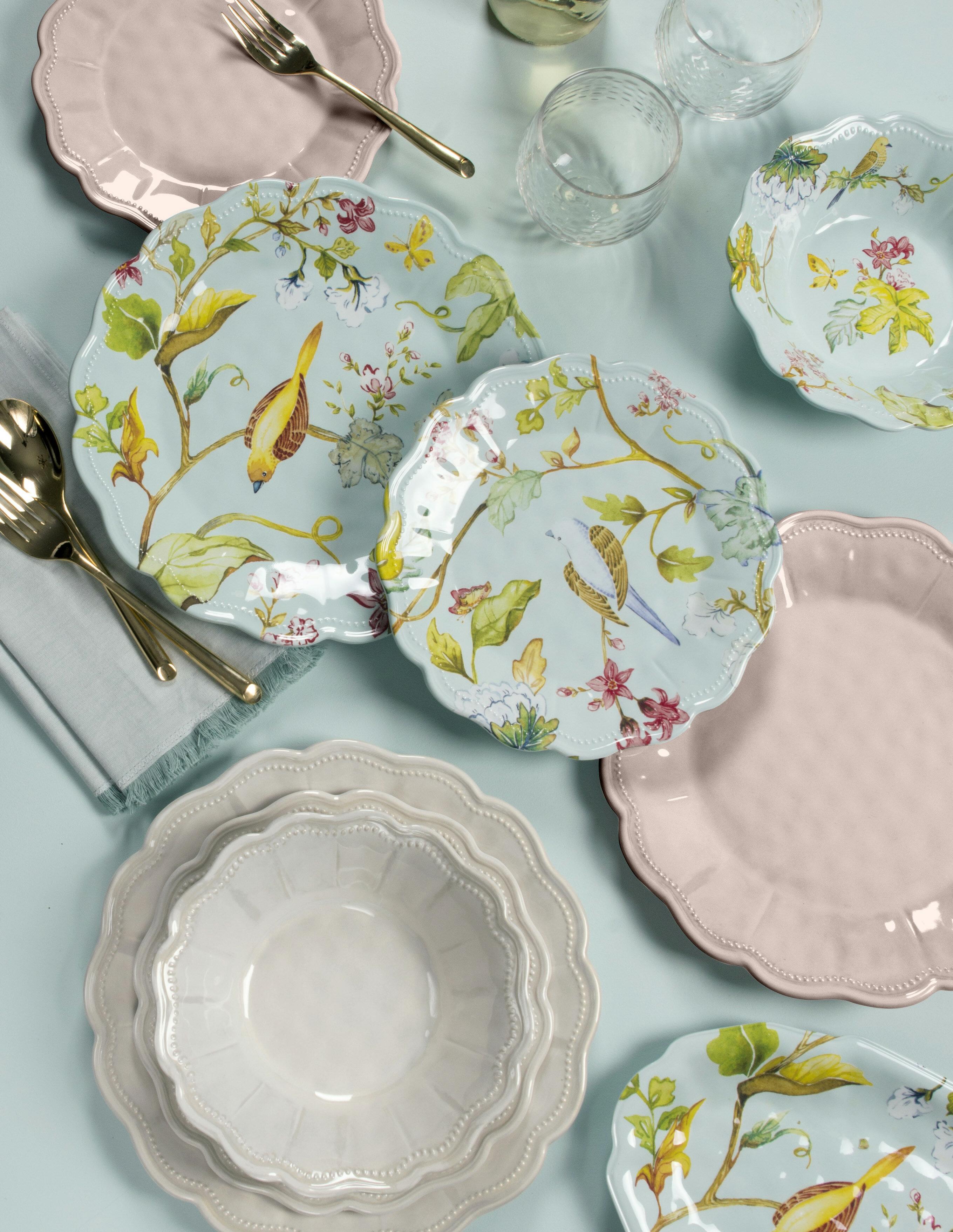Lecroy Spring Chinoiserie 12 Piece Melamine Dinnerware Set, Service for 4 &  Reviews | Wayfair
