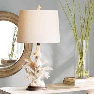 Coupon Hydeville Coral 32 Table Lamp By Beachcrest Home