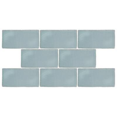 Tivoli 3 X 6 Ceramic Subway Tile In Aqua Blue