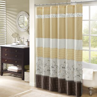 West Drive Embroidered Single Shower Curtain