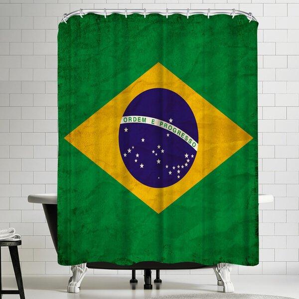 East Urban Home Wonderful Dream Brasil Flag Single Shower Curtain Wayfair