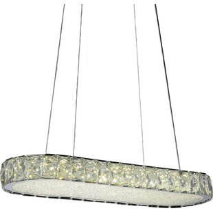Orren Ellis Baggett LED Light Crystal Chandelier