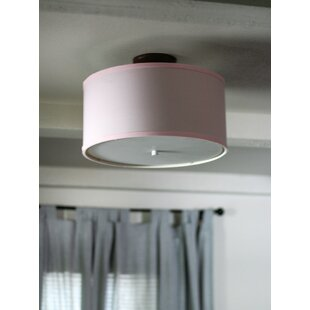 Latitude Run Seay Drum Semi Flush Mount