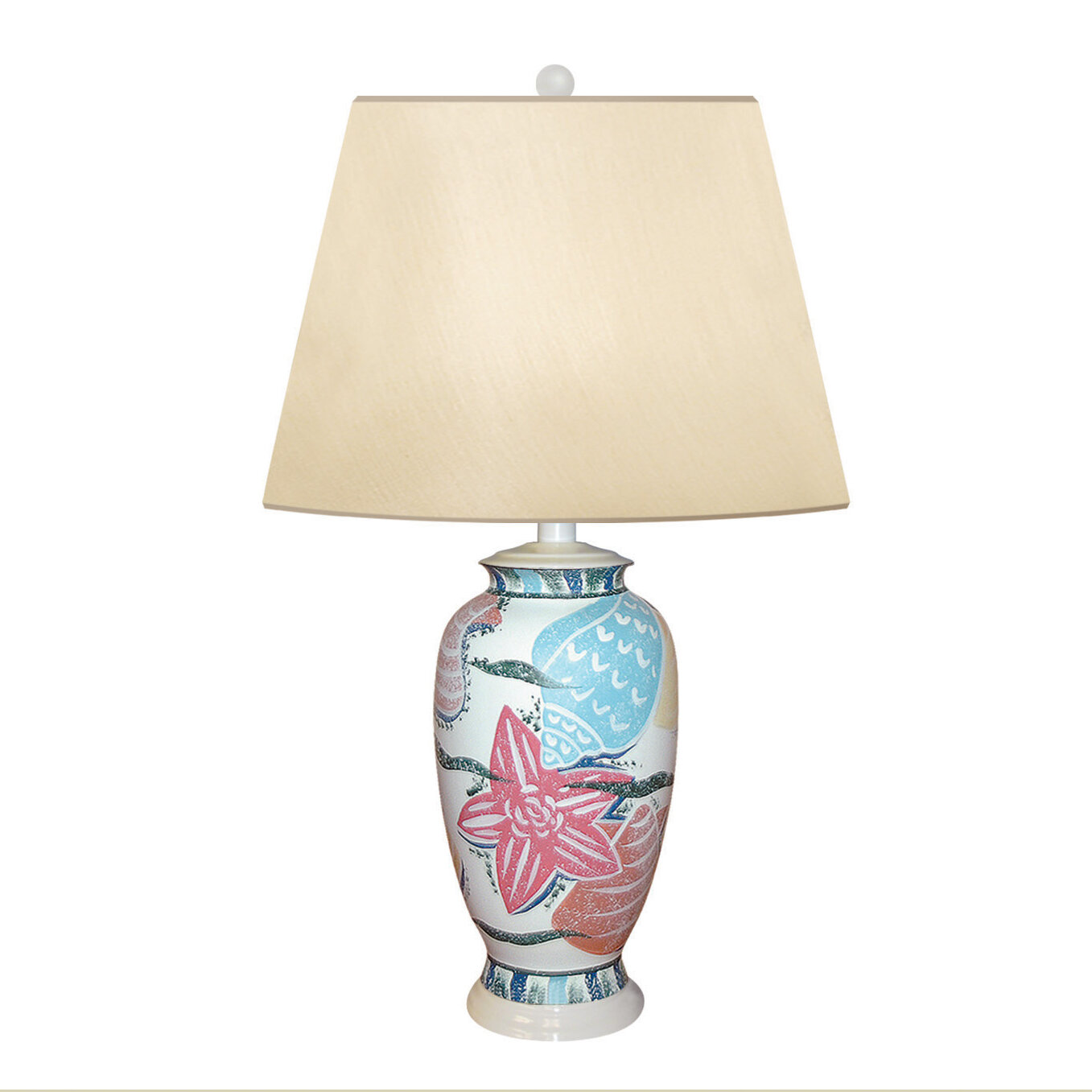 """Bright Sea Hand Painted Porcelain 5"""" Table Lamp"""
