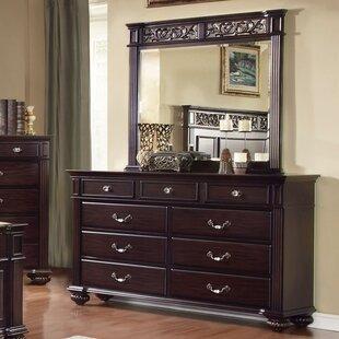 Best Reviews Wesleyan 9 Drawer Dresser with Mirror by Astoria Grand