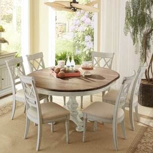 Allgood 7 Piece Dining Set Highland Dunes