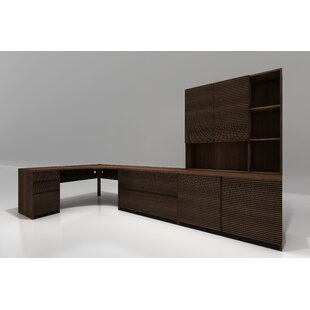 5 Piece L-Shape Desk Office Suite