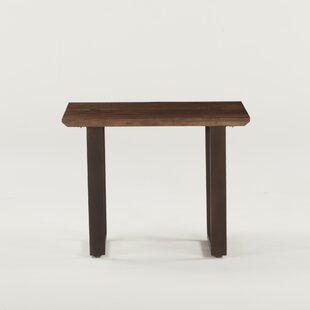 Clapp Acacia Wood End Table by Gracie Oaks