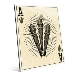 Click Wall Art Ace Of Clubs Graphic Art On Plaque Wayfair