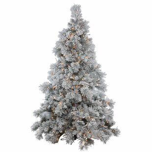 Flocked/Frosted Branches Pre-Lit Christmas Trees You'll Love | Wayfair