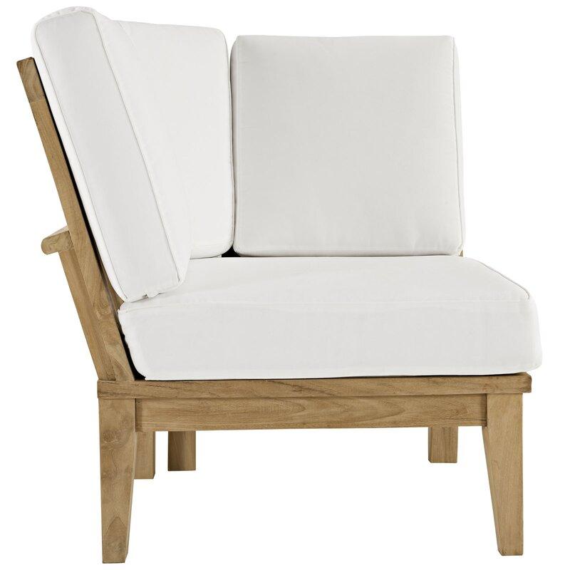 Elaina Teak Patio Chair With Cushions Joss Main