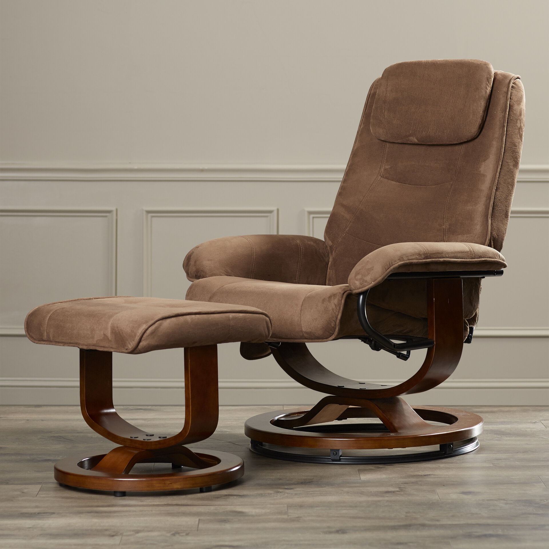 Charlton Home Reclining Heated Massage Chair With Ottoman Reviews