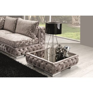 Dunlin Fabric Coffee Table by Rosdorf Park Savings