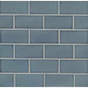 Park Place 3 X 6 Ceramic Subway Tile In Blue