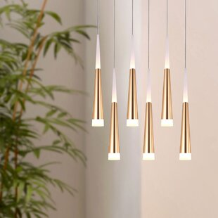 Wadley 6-Light LED Cluster Pendant by Orren Ellis