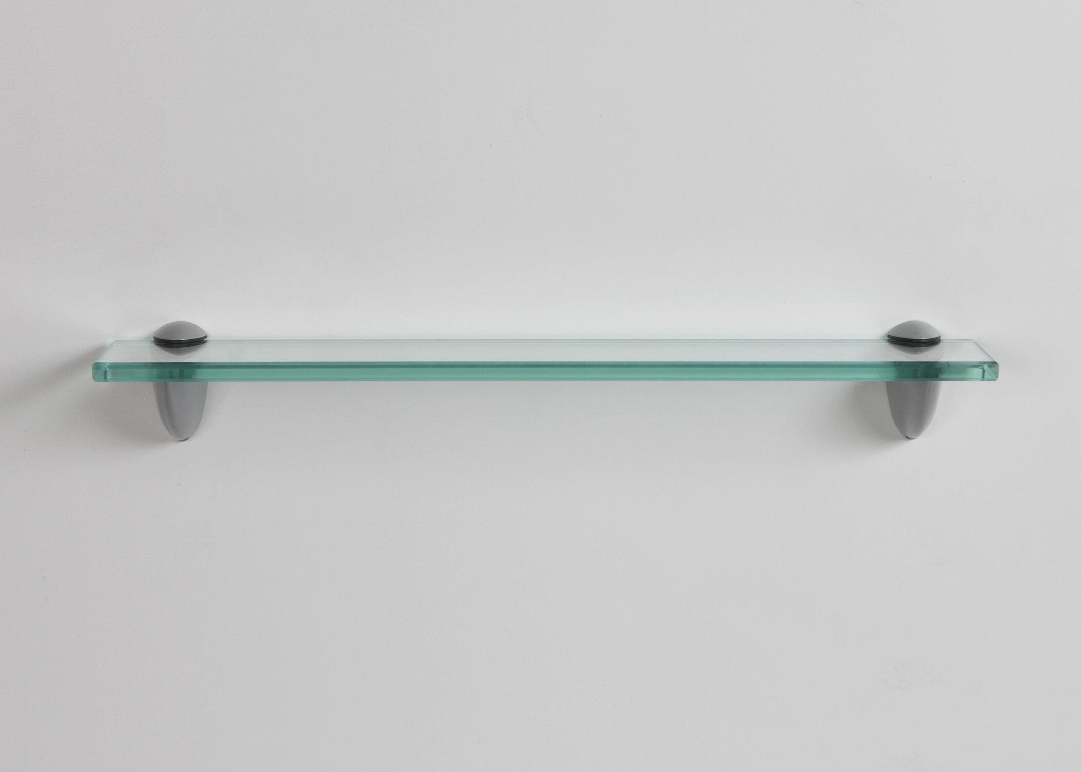 Aubin Glass Bracket Wall Shelf