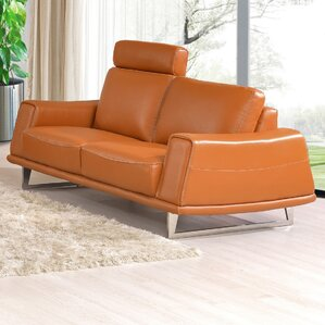 Leather Loveseat by Noci Design