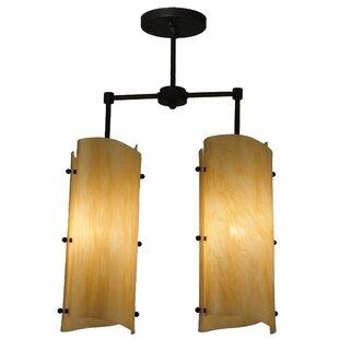 Meyda Tiffany Greenbriar Oak 2-Light Pendant