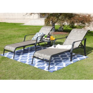 North Sun Lounger Set with Table by Alcott Hill
