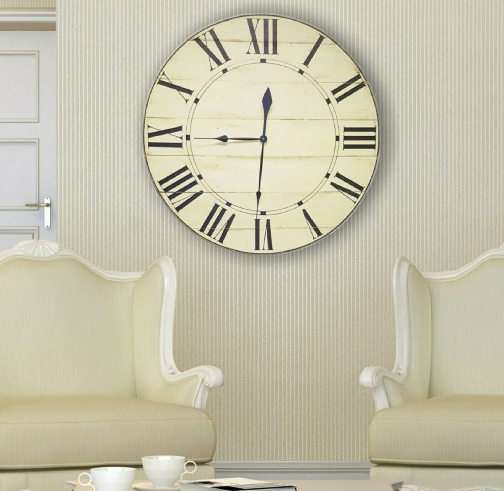 Oversized Gouveia Farmhouse Wall Clock